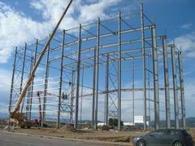 Construction of a large format sintered ceramics factory at Almazora (Castellón).