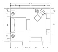 Master Bedroom Floorplan