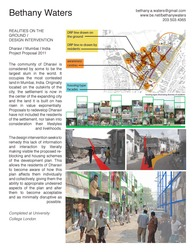 Realities on the Ground / Design Intervention