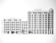 103 unit mixed use apartment building/landmarked house renovation/apartment building