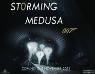 """STORMING MEDUSA""- AND THE VILLAINS LAIR FOR JAMES BOND NO.24"