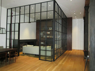 Steel Loft Partition System, Private Residence