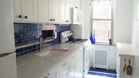 Cheerful Galley Kitchen