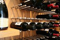 Vin de Garde Custom Modern Wine Room   Wine Wall & Bamboo Panels