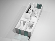 Ground floor apartment interior proposal
