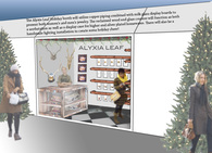 Alyxia Leaf holiday booth
