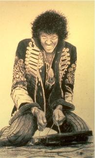 Drawing - Jimi