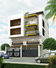 4-Storey Mixed Use building with mezzanine