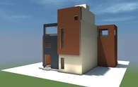 3d model and draws of house in Athens