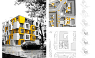 Bachelor's Diploma The Residential Infill in the city - Cracow, Poland