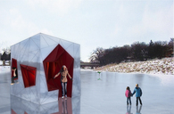 Ice Womb - warming hut