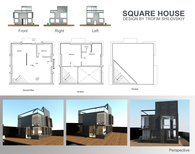 Square house