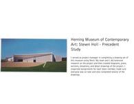 Herning Museum of Contemporary Art: Steven Holl - Precedent Study