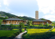 Tujia minority complex in Shizhu