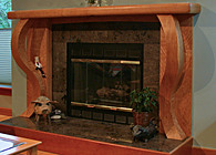 Figured Cherry Fireplace