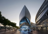 Aedas-designed leaf-shaped sales gallery will open its door soon