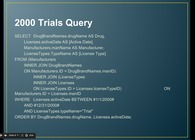 FDA Drug Database SQL Example