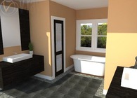 Master Bath in Greenwich