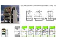 Study and construction of three-storey housing building in Ymittos, Athens, Greece