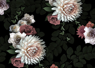 Dark Flowers - Wallpaper pattern
