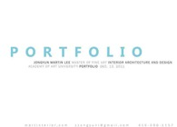 Martin Lee's Portfolio