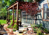 Reclaimed Heart Pine Pergola