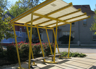 Highland Community Greenspace Shade Structure from recycled RCA Dome fabric