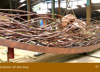 Dream Boat: Copper Fabrication Sculpture