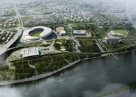 Olympic Park in Zhangzhou, 2011. Zhangzhou, Guandong, China. (0128)
