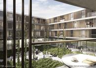 Dorm and nursing home by GWJ Architektur (3rd Prize)