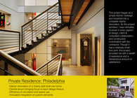 Private Residence: Philadelphia