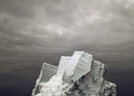 Icebergs trading post in a melting Greenland