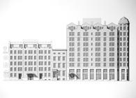 103 unit mixed use apartment building/landmarked house renovation/apartment building