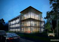 Office Building 3D Rendering
