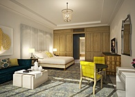 Four Seasons Dubai: King Suite Progress Render / Bamo