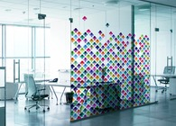 Glass foil pattern for office