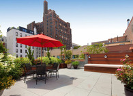 Brooklyn, NYC Backyard Patio and Rooftop Terrace Garden Design