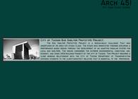 Arc 451: City of Tucson Bus Shelter Prototype