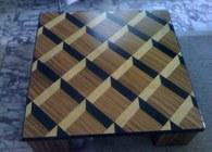 Zebra Wood Coffee Table