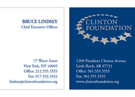 Clinton Foundation Business Card Proposed Redesign