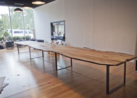 24 Ft Spalted Maple Live Edge Conference Table