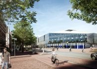 Delft municipal office and train station