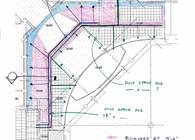 8. Ceiling Plan Diagram of Ductwork Routing in Front Entry
