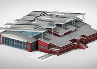Sports Complex for Indoor Sand Volleyball - Conceptual