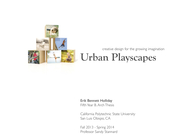 Urban Playscapes (Thesis Project)
