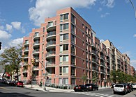 Fox Leggett. New Residential Construction. 50 units, 60,200 SF. Completed 2010. LEED Platinum
