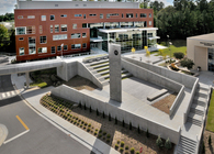 Wake Tech Health Sciences 2 Clock Tower and Plaza