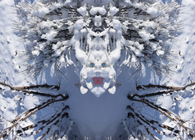 Spirits in the Winter Woods, A series of photomontages