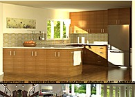 3d Visualization - Kitchen Design Rendering