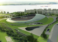 Football (soccer) stadium in Galati (Roumania) 